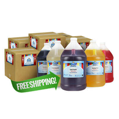 Free Shipping On 28 Gallons of Snow Cone Concentrate