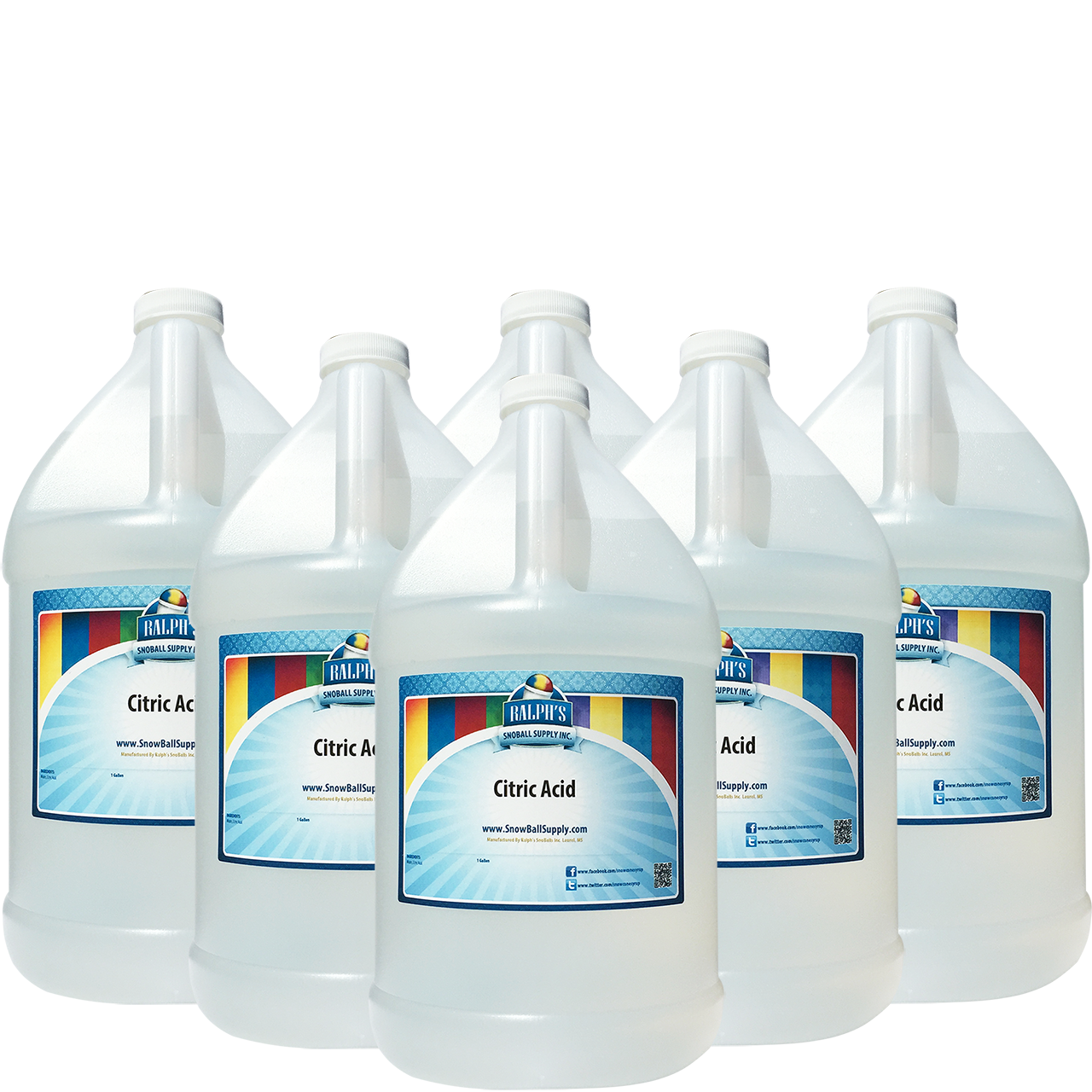 Buy 5 Gallons of Citric Acid Get 1 Free! You Save $18.95