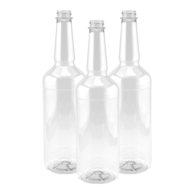 Clear 32 Ounce Shaved Ice Pour Bottles