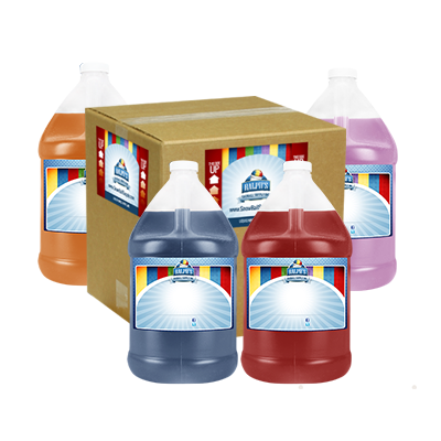 Bulk Case - 4 Gallons of Diet Snow Cone Syrup