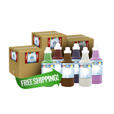 Free Shipping On 36 Quarts of Snow Cone Concentrate