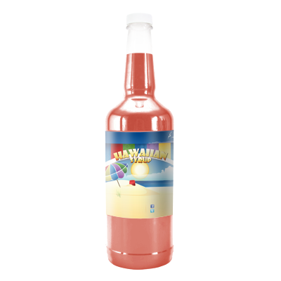 Peach  Hawaiian Syrup - Quart
