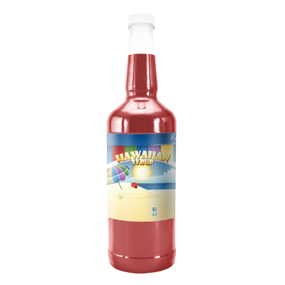 Red Cotton Candy  Hawaiian Syrup - Quart