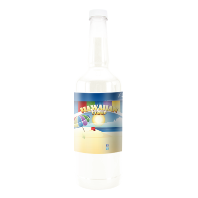 White Coconut  Hawaiian Syrup - Quart