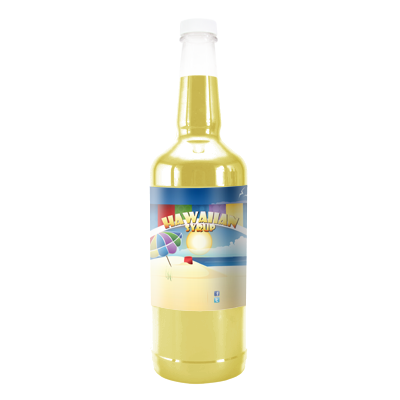 Custard Hawaiian Syrup - Quart