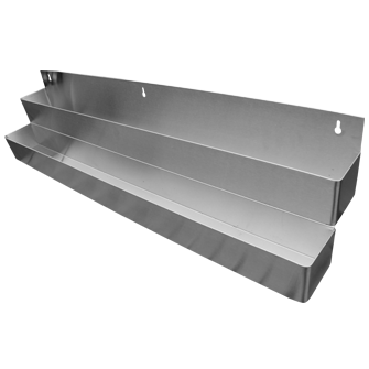 Wall Mounted Stainless Steal Pour Bottle Double Shelf
