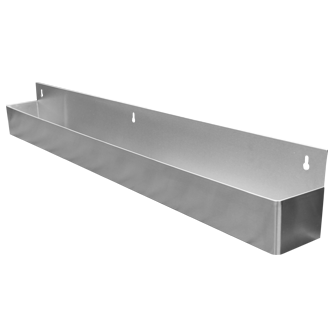 Wall Mounted Stainless Steal Pour Bottle Single Shelf